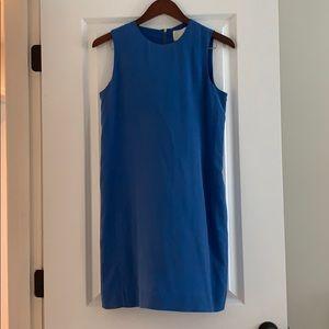 Cynthia Rowley 100% Silk Cobalt Blue Shift Dress